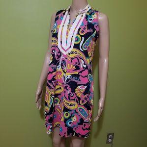 Paisley Tracy Negoshian sleeveless dress bold